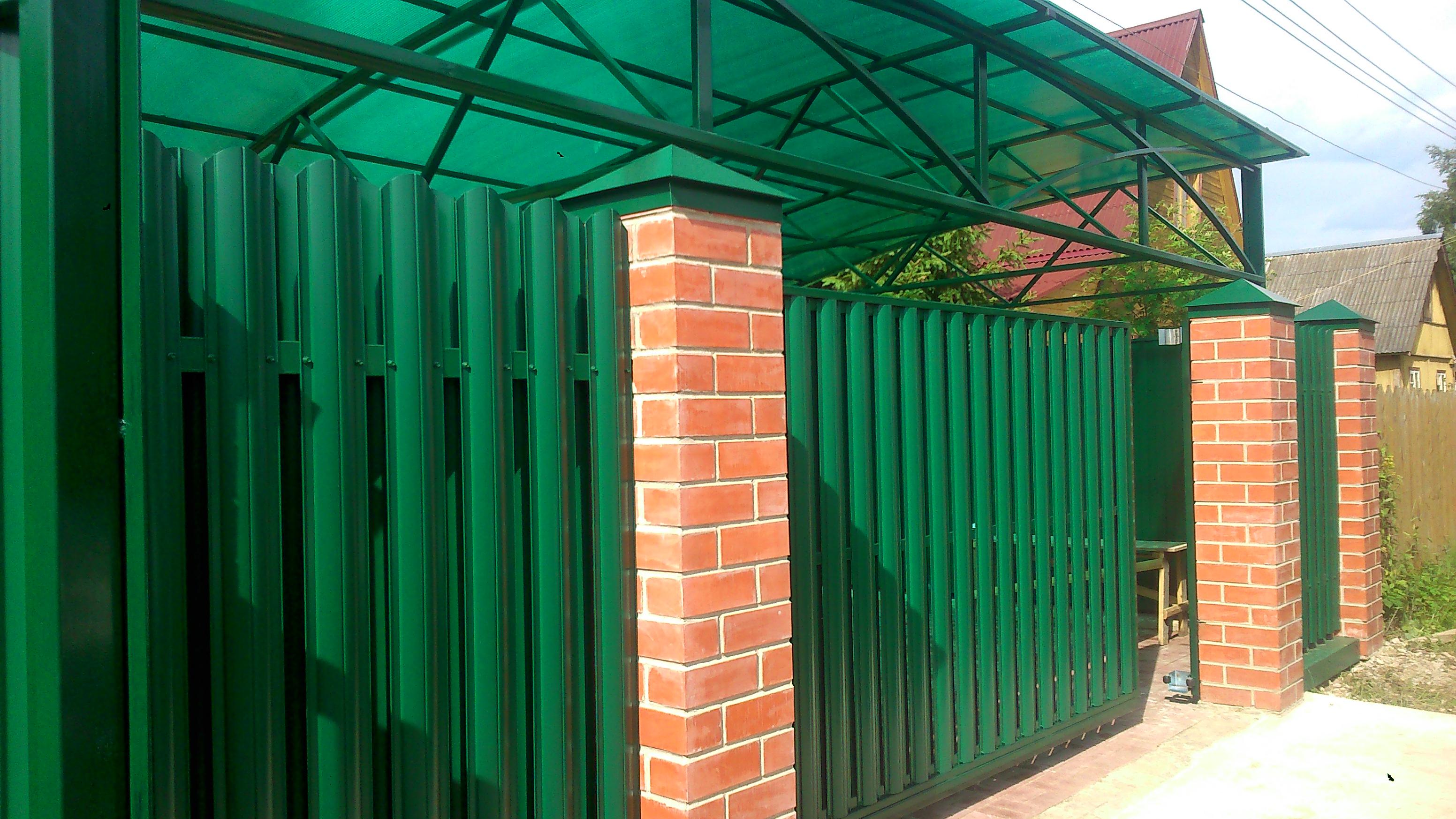 сдвижные ворота 4200 мм на 2100 мм с автоматикой и установкой от 80000 руб